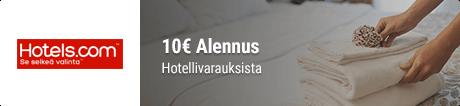 Hotels.com alennuskoodit hp banneri