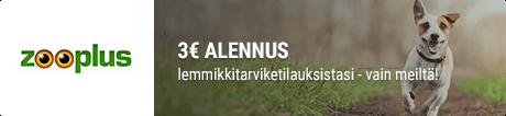 zooplus alennuskoodi 3€