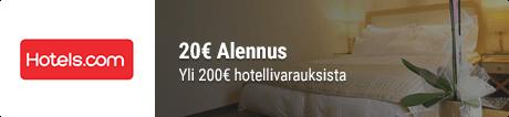 Hotels.com alennuskoodi hp banneri